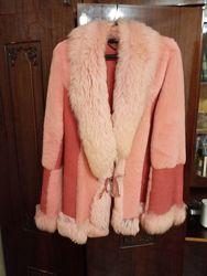 Дубленка розовая тоскана