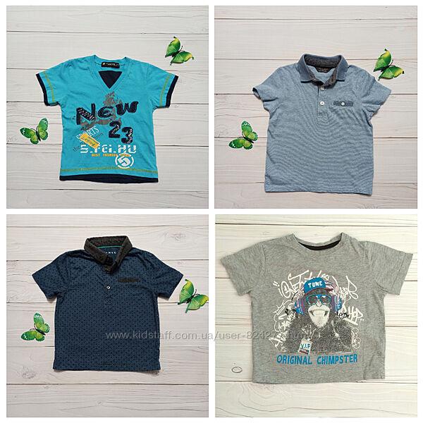 Детская футболка поло 18-24 мес р.86-92 для мальчика