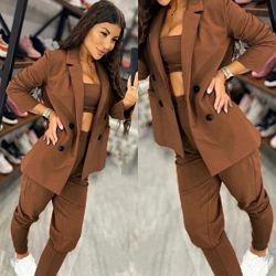 Стильный женский костюм пиджак брюки весна 2021