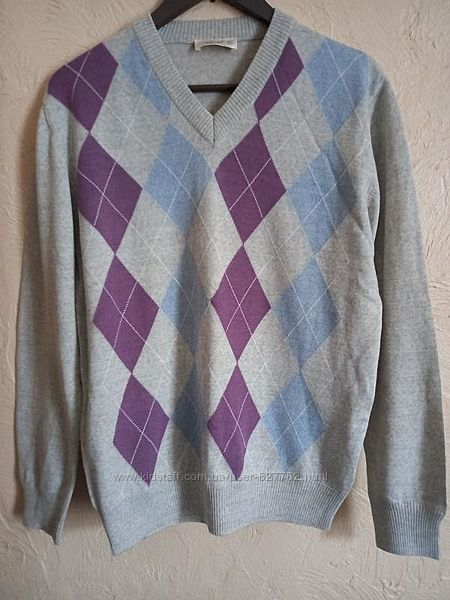 Мужской красивый свитер джемпер шерсть  акрил р. м