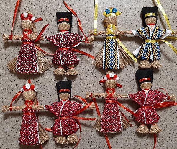 Неразлучники - кукла-мотанка Оберег и подарок в дом.