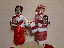Неразлучники, handmade. Подарок-оберег. Мотанка. Рост 38-45, 15-35 см.