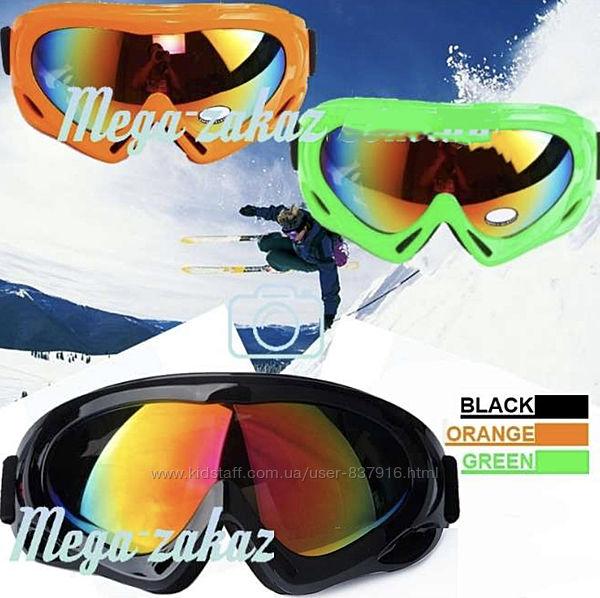 Маска горнолыжная лыжные очки Spark c УФ фильтром 4 цвета