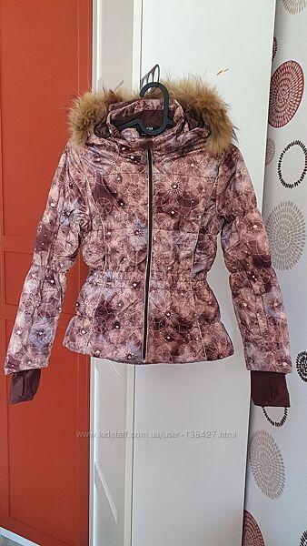 Зимняя лыжная куртка glissade для девочки 7-9 лет