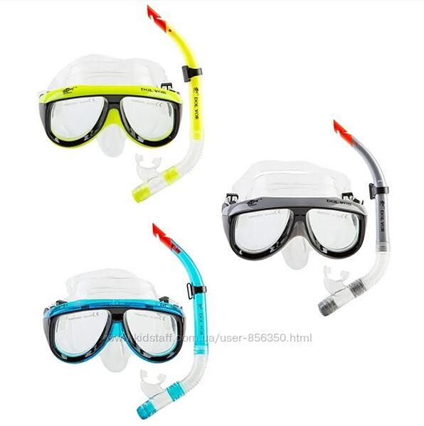 Набор для плавания подростковый маска с трубкой Dolvor M213-1SN52P