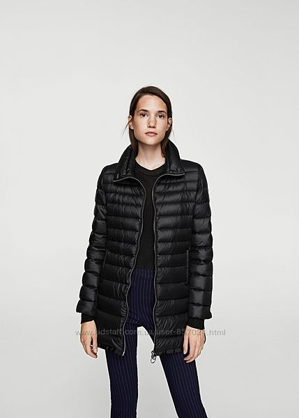 Нова куртка пуховик mango іспанія роз L XL