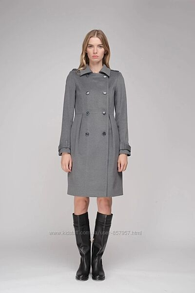 Двубортное пальто на весну Natali Bolgar 34 по бирке  на 40-42