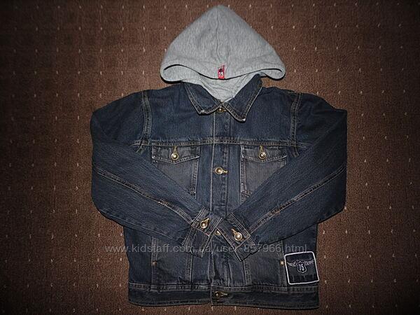 Джинсовая куртка с подкладкой TCM рост 134-140