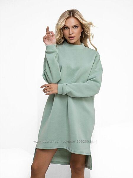 Утепленное флисом платье