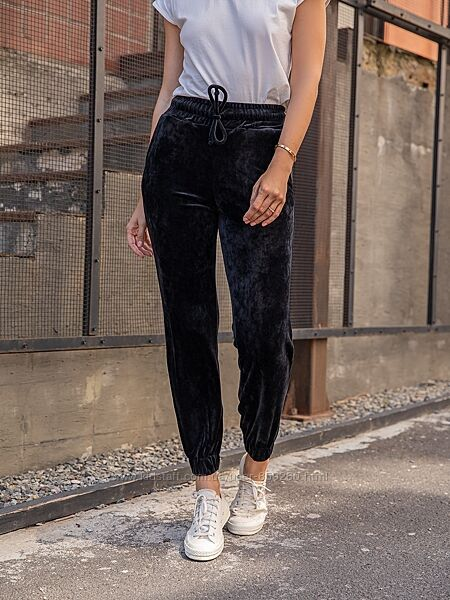 Велюровые штаны джоггеры