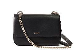 Кожаная черная сумка кроссбоди DKNY, оригинал
