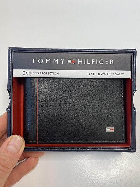 Оригинал Мужской кожаный кошелек, портмоне, Tommy Hilfiger, кожа