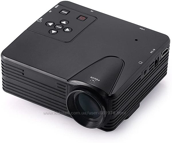 Портативный мини проектор projector H80 светодиодный