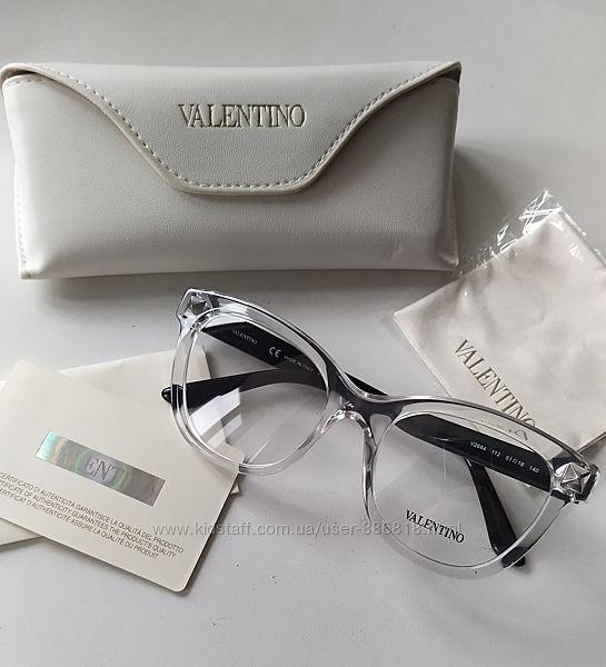 Новая. оправа Valentino очки, Made in Italy. прозрачная черный лак