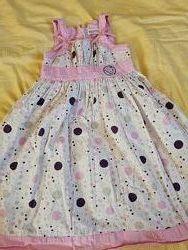 Нарядное легкое хлопковое платье NKD рост 122