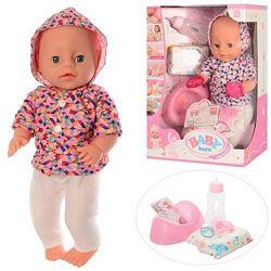 Кукла-пупс Baby Born  копия горшок, соска, бутылочка YL 1710 ABCD