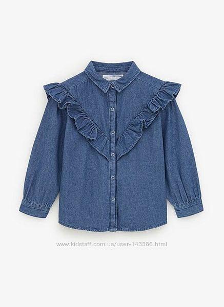 Джинсовая рубашка Zara 11-12 лет