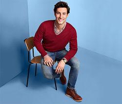Мягкий и уютный мужской свитер, пуловер от tcm Tchibo чибо, Германия, S-M