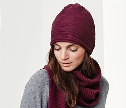 Мягусенький теплый комплект шапка и шарф от tcm tchibo чибо, германия