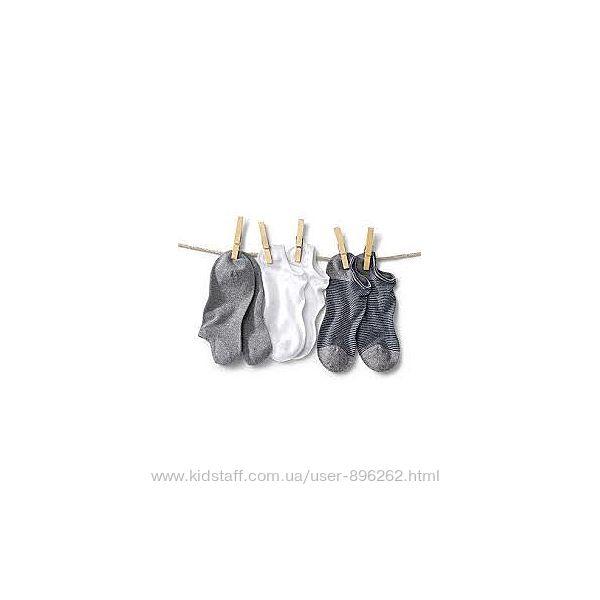 Набор 3 шт качественных хлопковых коротких детских носков, размер 31-34