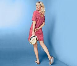 Стильное трикотажное летнее платье от тсм tchibo чибо, германия, S-M