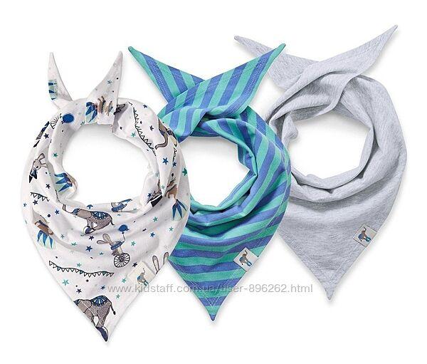 Набор 3 шт  хлопковых снудов, шарфиков, косынок  от тсм Tchibo Чибо