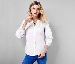 Стильная классическая хлопковая блуза от тсм Tchibo чибо, Германия, S-3XL