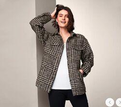 Стильное качественное женское оверсайз пальто с шерстью от tcm Tchibo чибо