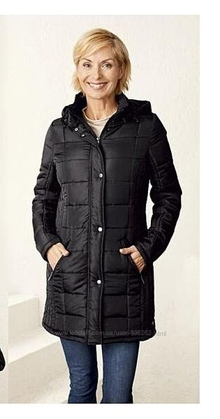 Стильное женское демисезонное стеганое пальто от Esmara, Германия, S-M