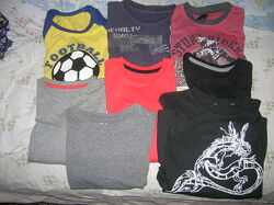 Футболки с длинными и короткими рукавами на рост ребенка 122-140 см.