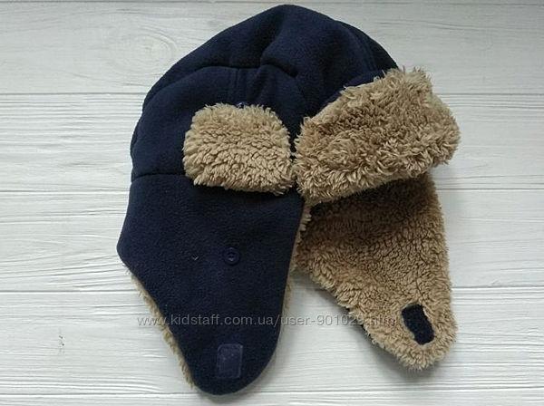 Зимняя детская шапка шлем на меху GAP, размер 48-50 см