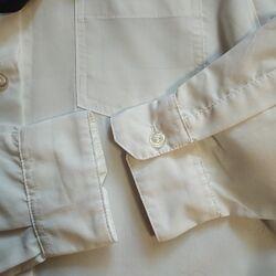 Белая рубашка с длинным рукавом в школу на мальчика10 лет