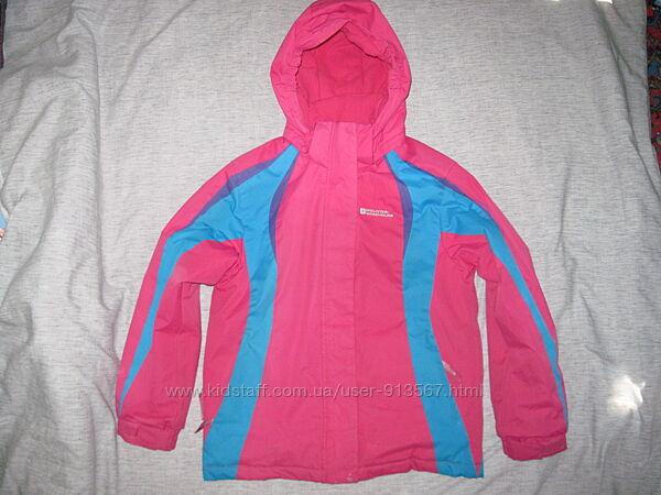 Куртка лыжная Mountain зима для двора для девочки 122-128-134 см 7-8-9 лет