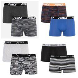 Трусы-боксеры Puma Bold Stripe Boxer 2-pack gray