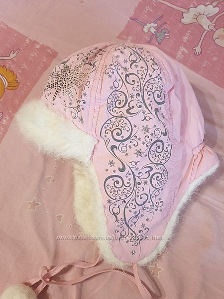 Шапка шапочка зима зимняя для девочки 4-6лет
