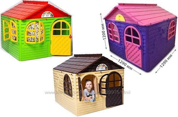 Домик детский, новый, большой со шторками для игры в доме и на улице