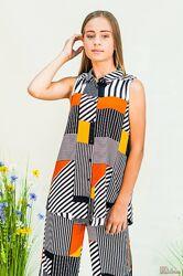 Блузка с геометрическим принтом для девочки NK Unsea