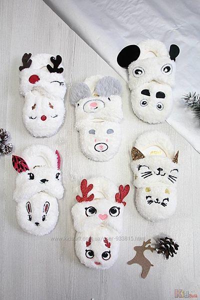 Носки-тапочки махровые с повязкой для девочки 9-10 лет Arti