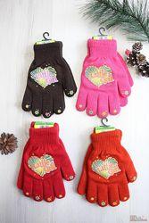 Перчатки утеплённые Little girl для девочки Корона