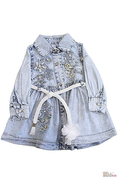 Платье джинсовое с красивой вышивкой Misselitte