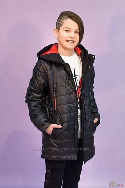 Куртка с капюшоном черного цвета для мальчика Venidise