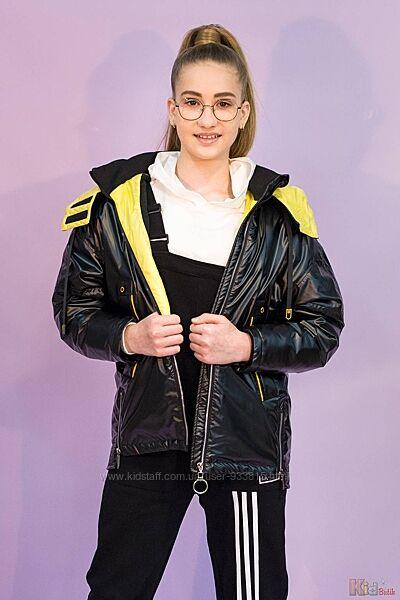 Куртка черного цвета для девочки Venidise