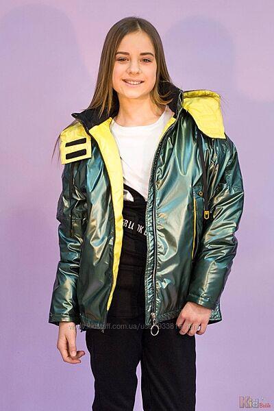 Куртка изумрудного цвета для девочки Venidise