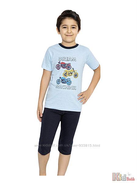 Пижама бриджифутболка с мотоциклами Dream Machines для мальчика Minimoon Оптом и в розницу