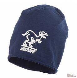 Шапка синего цвета Wild Life с динозавром Leos Jamiks