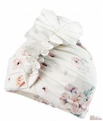 Шапка розовая в цветы для девочки Dalma Jamiks