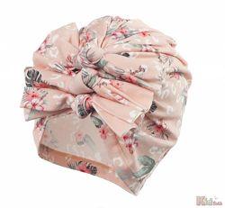 Шапка розовая в цветы для девочки Afia Jamiks
