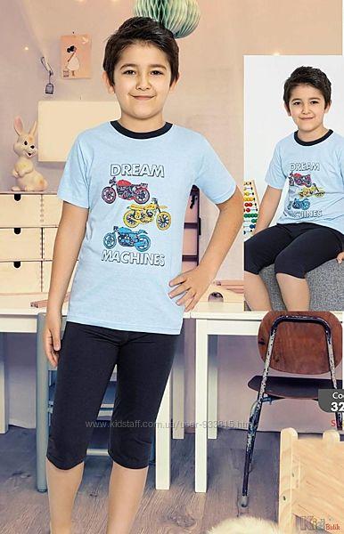 Пижама бриджифутболка с мотоциклами Dream Machines для подростка Minimoon Оптом и в розницу
