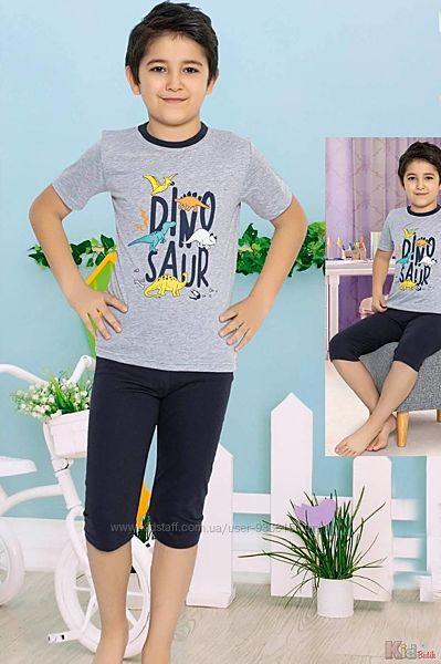 Пижама футболкабриджи Dinosaur для мальчика Minimoon Оптом и в розницу