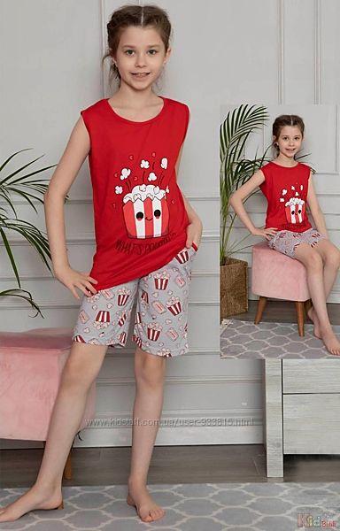 Пижама шортымайка с попкорном What&acutes poppin Minimoon Оптом и в розницу